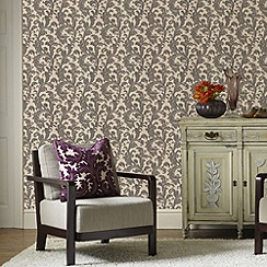 Graham & Brown - Charcoal capulet wallpaper
