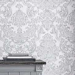 Graham & Brown - Silver montague wallpaper