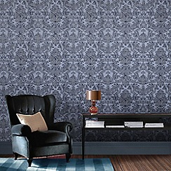 Graham & Brown - Blue montague wallpaper