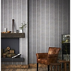 Superfresco Easy - Charcoal prairie wallpaper