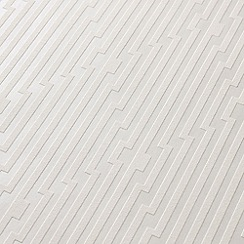 Superfresco Easy - White strata wallpaper