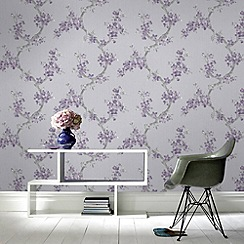 Graham & Brown - Plum Mercutio  Wallpaper