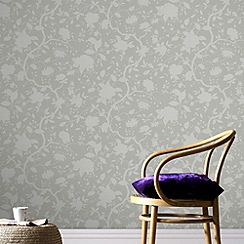 Kelly Hoppen - Taupe Kelly Hoppen botanic wallpaper