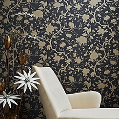 Kelly Hoppen - Charcoal Kelly Hoppen botanic wallpaper