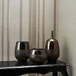 Kelly Hoppen - Gold Kelly Hoppen stripe wallpaper