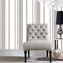 Kelly Hoppen - White Kelly Hoppen stripe wallpaper