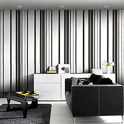 Kelly Hoppen - Black Kelly Hoppen stripe wallpaper