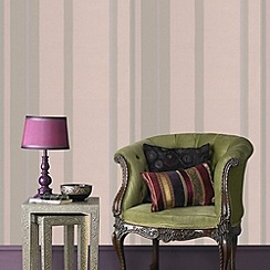 Kelly Hoppen - Taupe Kelly Hoppen stripe wallpaper