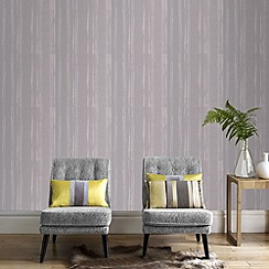 Kelly Hoppen - Soft grey Kelly Hoppen laddered stripe wallpaper
