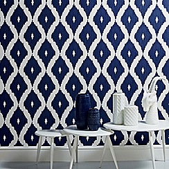 Kelly Hoppen - Blue Kelly Hoppen kellys ikat wallpaper