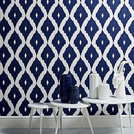 Kelly Hoppen - Blue Kelly Hoppen kellys ikat wallpaper