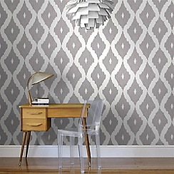 Kelly Hoppen - Soft grey Kelly Hoppen kellys ikat wallpaper