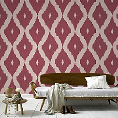 Kelly Hoppen - Red Kelly Hoppen kellys ikat wallpaper