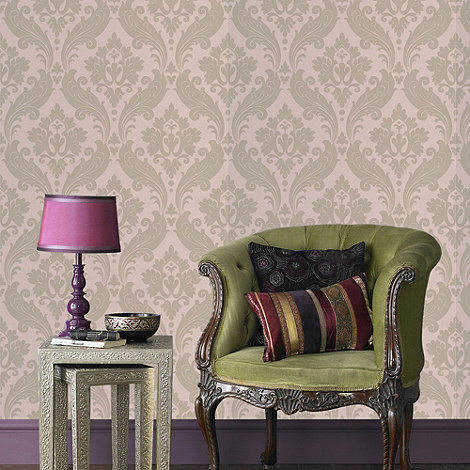 Kelly Hoppen - Moss Kelly Hoppen vintage flock wallpaper