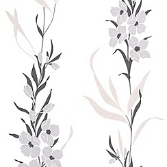 Superfresco Easy - Silver Jardin Wallpaper