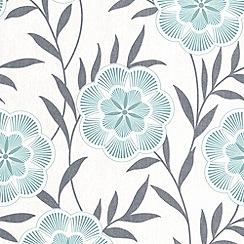 Superfresco Easy - Teal Flora Wallpaper