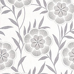 Superfresco Easy - Grey Flora Wallpaper