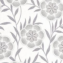 Superfresco Easy - Grey Flora Wallpaper