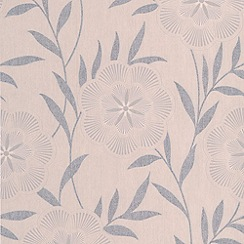 Superfresco Easy - Taupe Flora Wallpaper