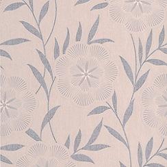 Superfresco Easy - Taupe Flora Wallpaper