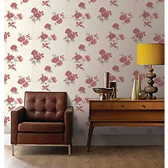 Graham & Brown - Red Rome Wallpaper