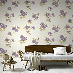 Graham & Brown - Plum Rome Wallpaper