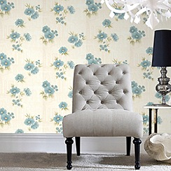 Graham & Brown - Teal Rome Wallpaper