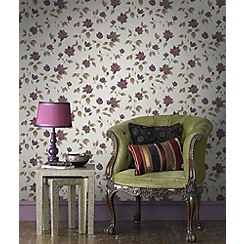 Graham & Brown - Plum Amy Wallpaper