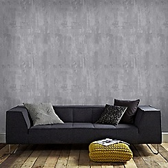 Graham & Brown - Grey Bellagio Concrete Effect Wallpaper