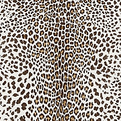 Premier - White/Beige Leopard Wallpaper