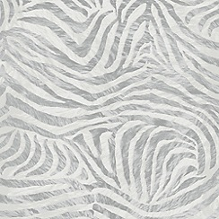 Premier - White/Grey Zebra Wallpaper
