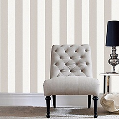 Superfresco Easy - Natural Calico Stripe Wallpaper