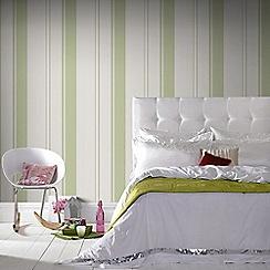 Superfresco Easy - Green Gradient Striped Wallpaper