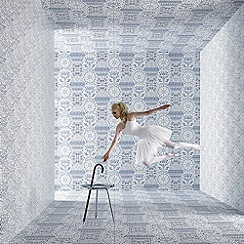Marcel Wanders - Blue andamp; White World Heritage Wallpaper