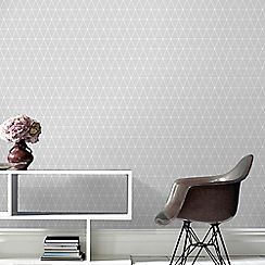 Superfresco Easy - Grey Triangle Geometric Paste the Wall Wallpaper