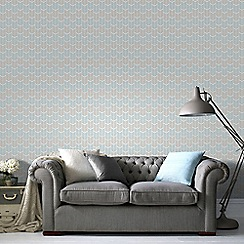 Superfresco Easy - Blue Oiti Geometric Paste the Wall Wallpaper