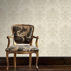 Julien Macdonald - Cream & Gold La Palma Damask Wallpaper