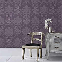 Julien Macdonald - Purple La Palma Damask Wallpaper