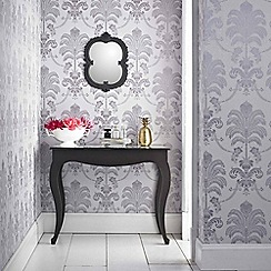 Julien Macdonald - Lilac La Palma Damask Wallpaper