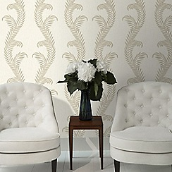 Julien Macdonald - Cream Venus Damask Wallpaper