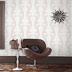 Julien Macdonald - Pink & White Venus Damask Wallpaper