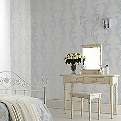 Julien Macdonald - Duck Egg Venus Damask Wallpaper