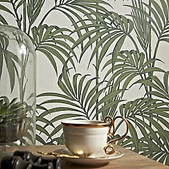 Julien Macdonald - Green Honolulu Palm Leaf Wallpaper