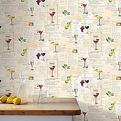 Superfresco Easy - Multicoloured Quirky Cocktail Inspired Wallpaper