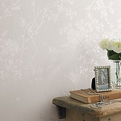 Superfresco - White Shimmer Spring Blossom wallpaper