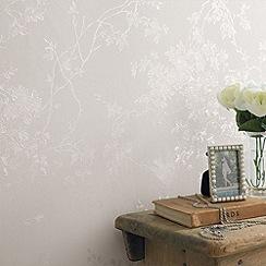 Superfresco - White Shimmer Spring Blossom wallpaper