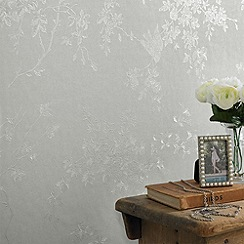 Superfresco - Silver Mist Spring Blossom wallpaper
