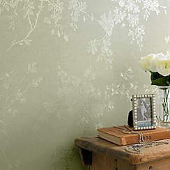 Superfresco - Green Shimmer Spring Blossom wallpaper