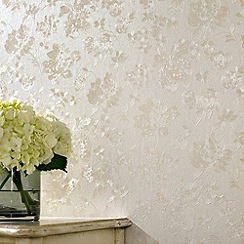 Superfresco - Cream Shimmer Floral Silk wallpaper