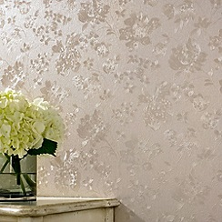 Superfresco - Golden Floral Silk wallpaper